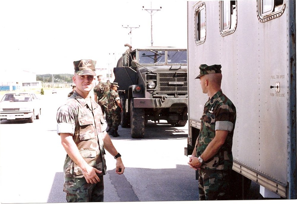 In Okinawa, 1992, getting reading to deploy to the Western Pacific and beyond.