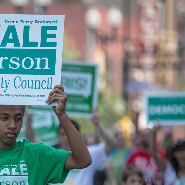 Kale_Severson,_Minneapolis_City_Council_Candidate_Sign_-_Twin_Cities_Pride_Parade_(9181432366).jpg