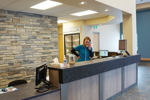North Peace Veterinary Clinic Reception