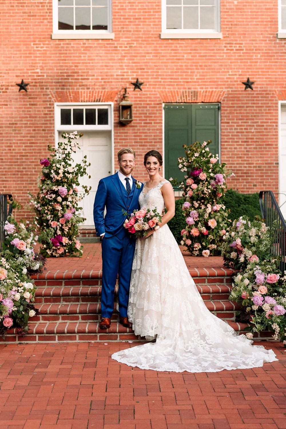 Sophie Felts Floral Design | L + B at The 1840's Plaza | DC Wedding Florist | Maryland Wedding Florist