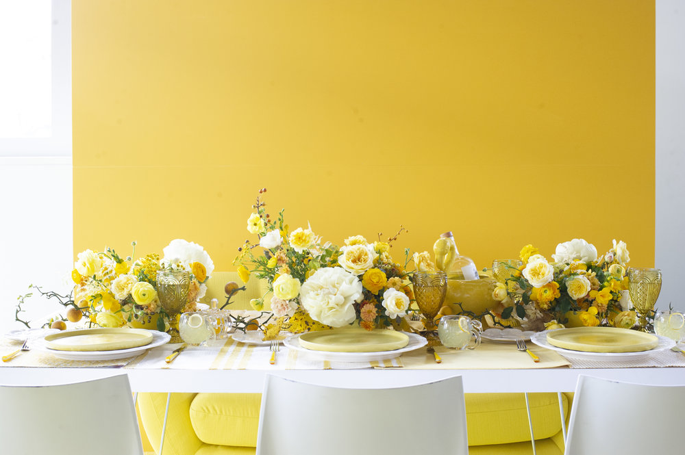 Sophie Felts Floral Design | Yellow Shoot with Evoke DC | Modern Luxury | DC Wedding Florist