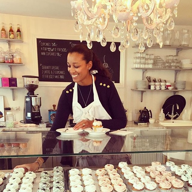 Mariam in the Serenity Cupcake shop