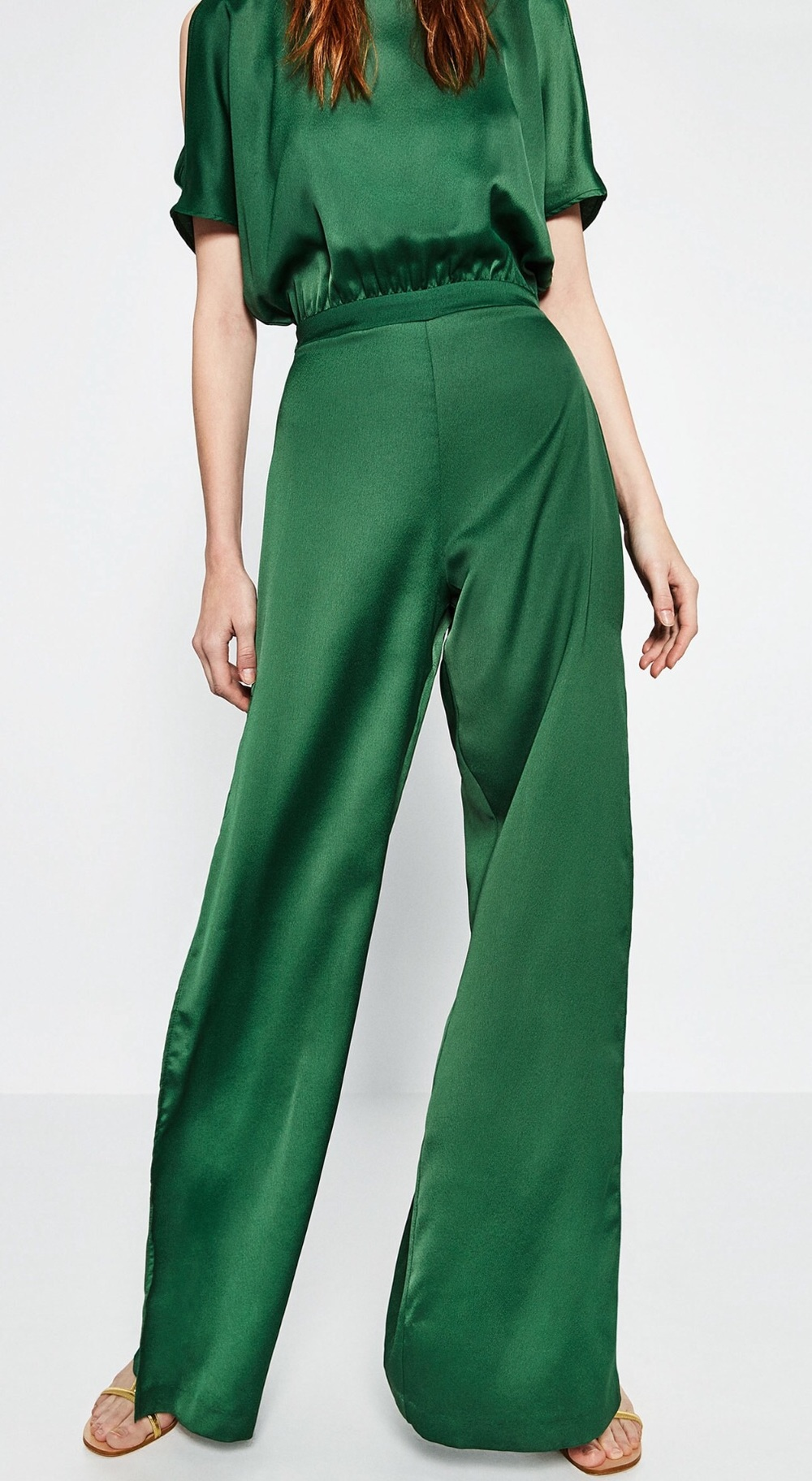 Green Jumpsuit from Zara 649 Dkk