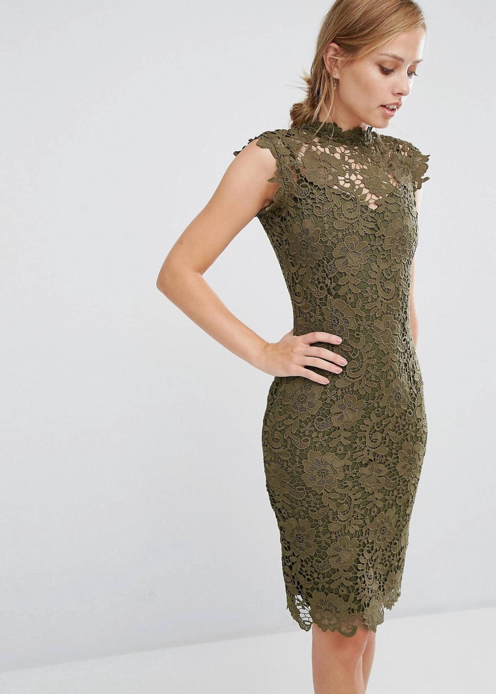 Green Lace dress from Asos 511,54 Dkk