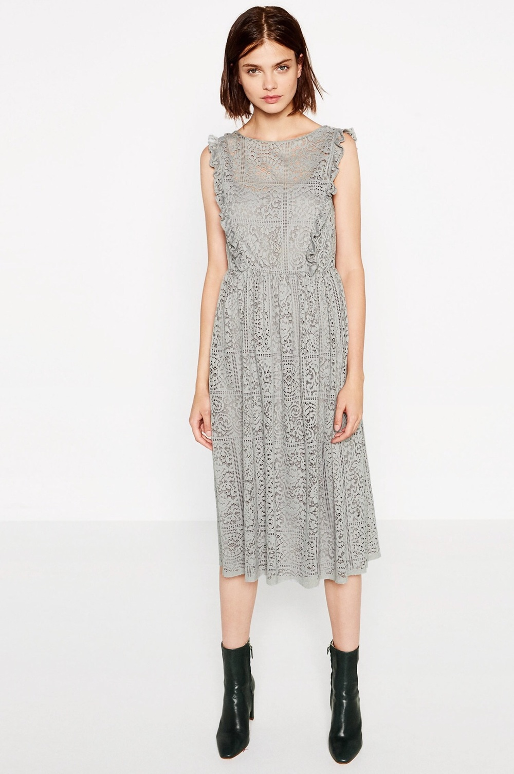 Gray Lace Dress From Zara 449 Dkk