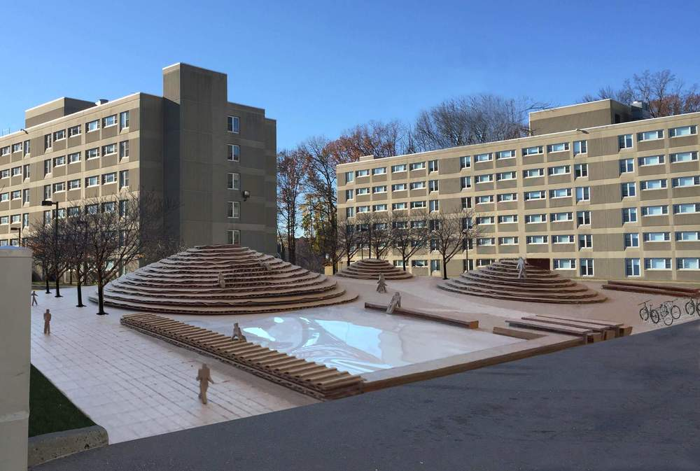 KLabs_Undergraduate Student Quad_Renovation_Cardboard model_perspective_2015.JPG