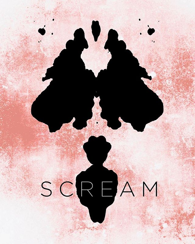 Halloween inspired ink blot poster by @ashcdiaz • • • • #halloween #fun #creative #spooky #scream #poster