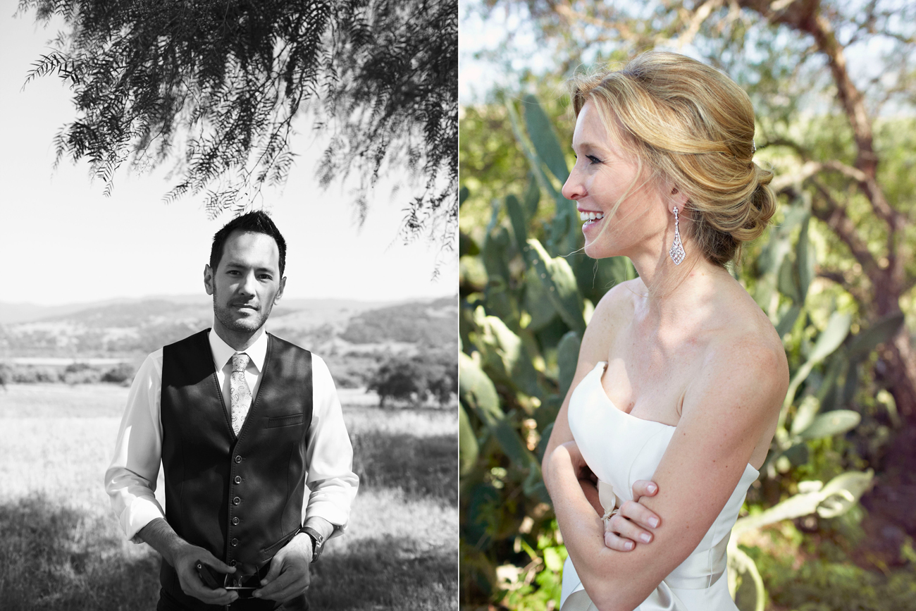 Bride and groom in Santa Ynez wedding
