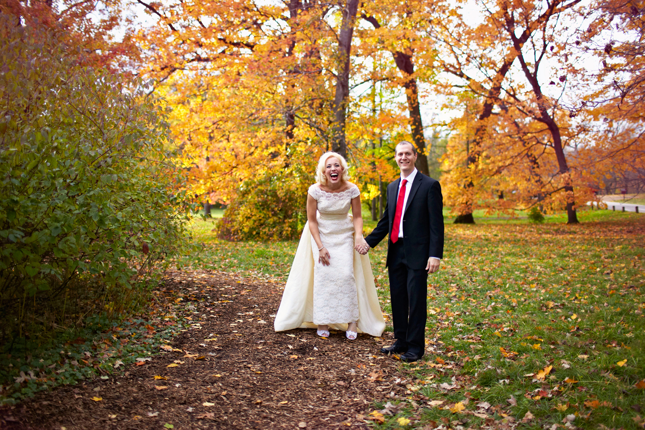 Chicago Arboretum wedding in the Fall