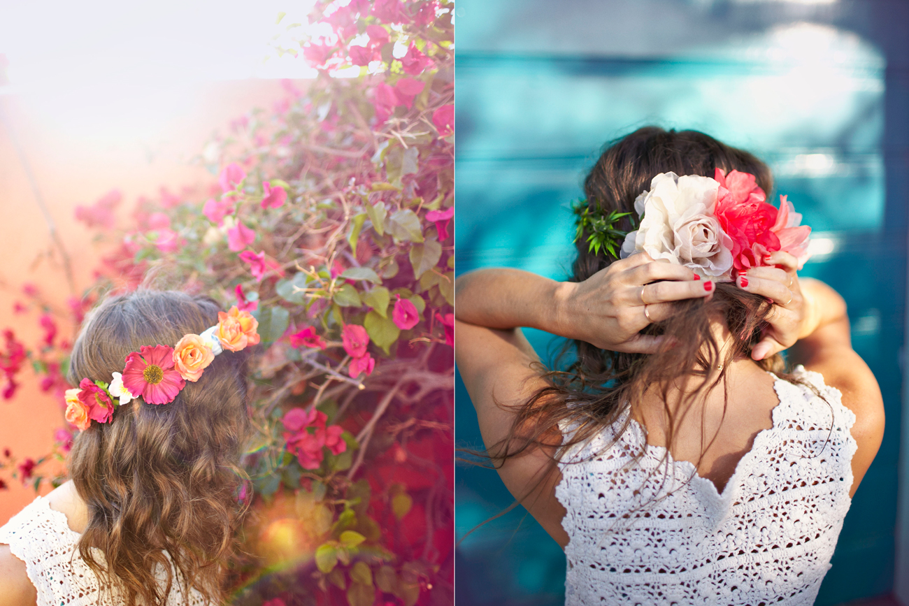 Lifestyle shoot flower crown