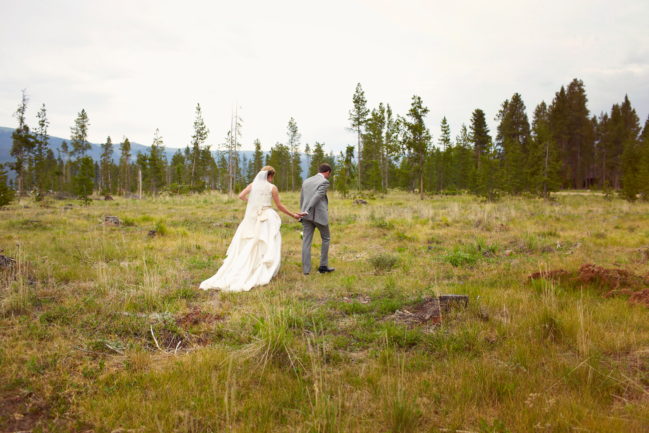 Colorado mountains wedding