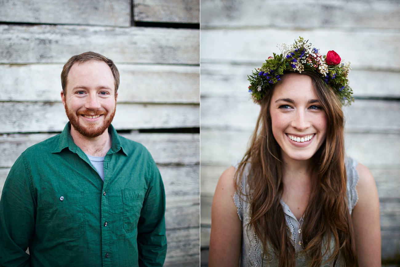 Road trip engagement flower crown