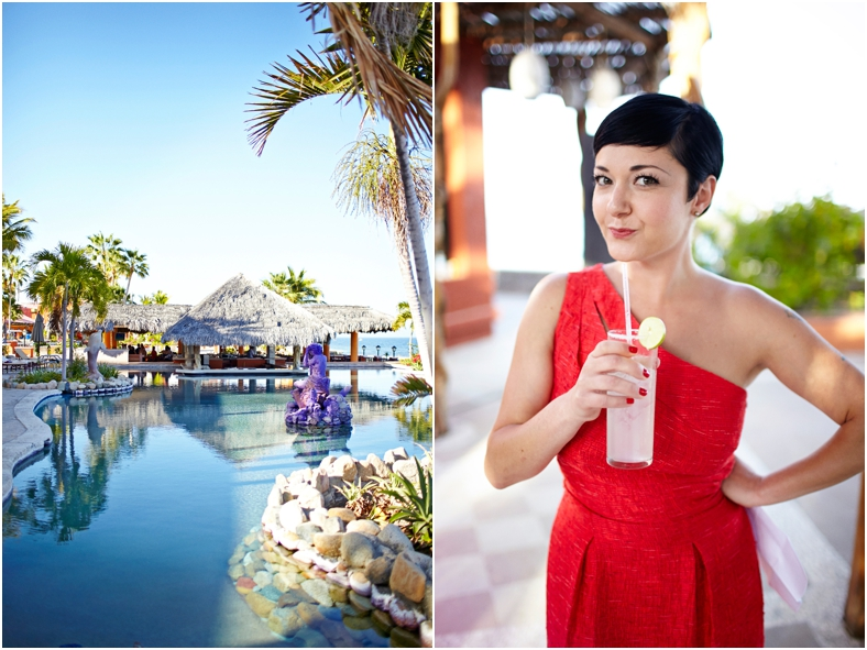 Mexico wedding resort and drinks