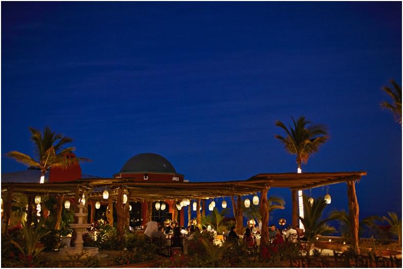 Mexico wedding venue at night