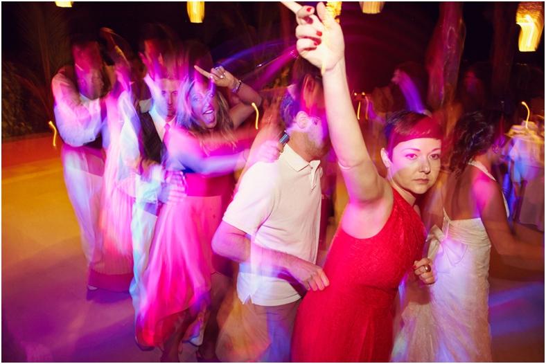 Mexico wedding reception dancing