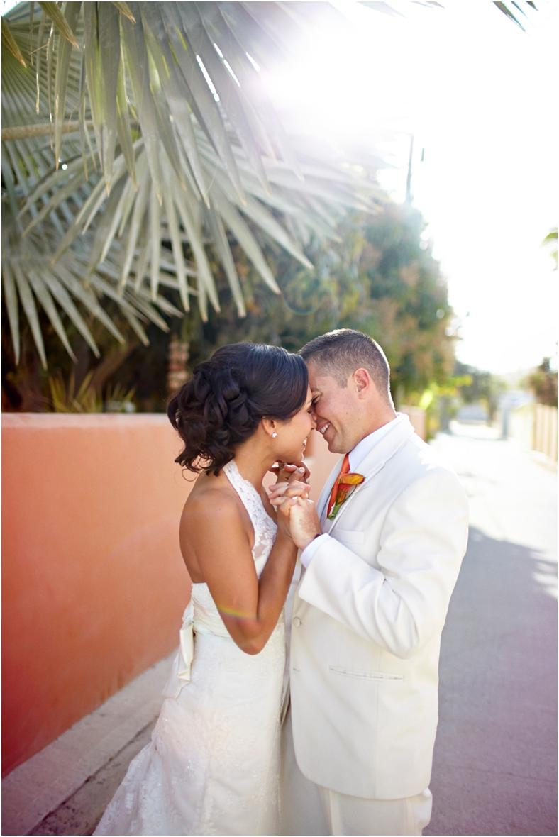 Mexico wedding Bride & Groom dancing in sun