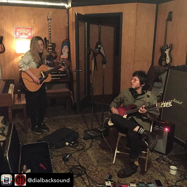 It was a good day. -- Repost from @dialbacksound @missmariedanielle & @thcwestern working out the chords on a cold, rainy ass Saturday.