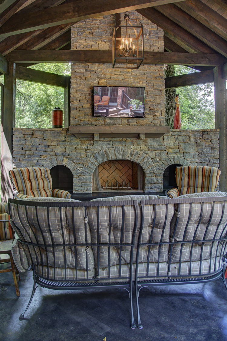 2014 covered porch with fireplace u2014 conrad construction company
