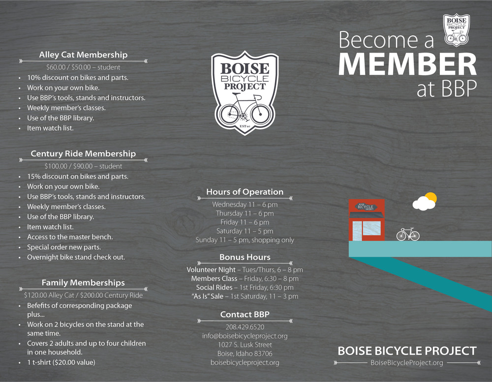 Membership Brochure - front/back