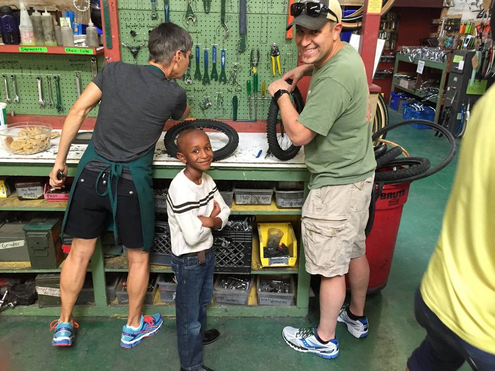 Making magic happen at the October '15 Kids Fix-It Night.