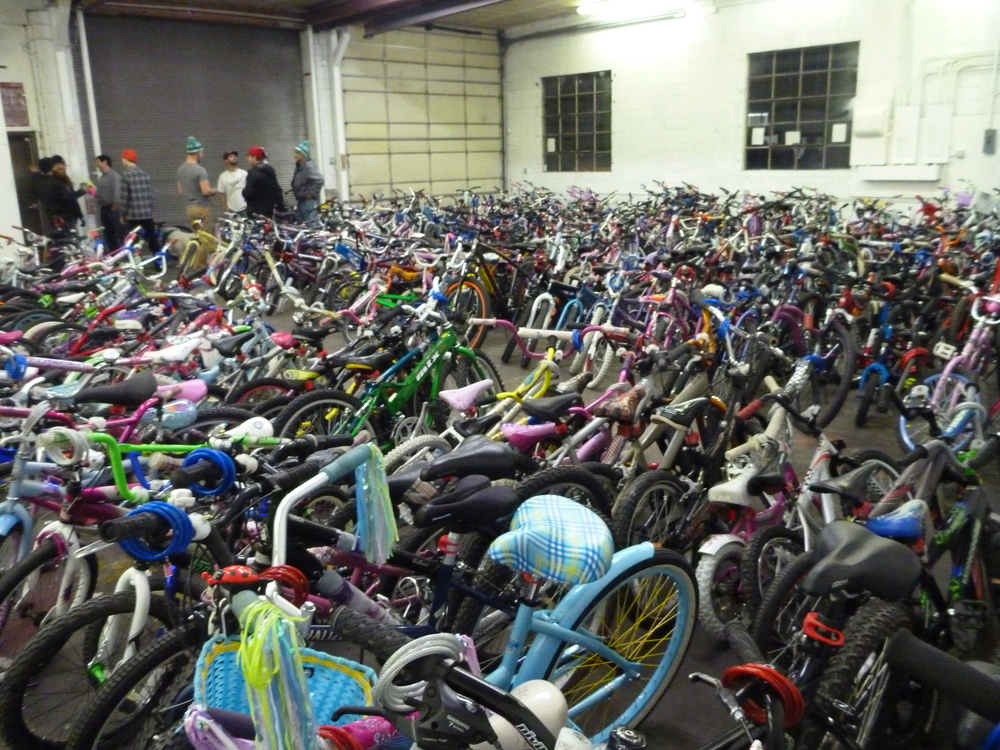 Friday Night: 400+ Bikes Ready for Adoption.
