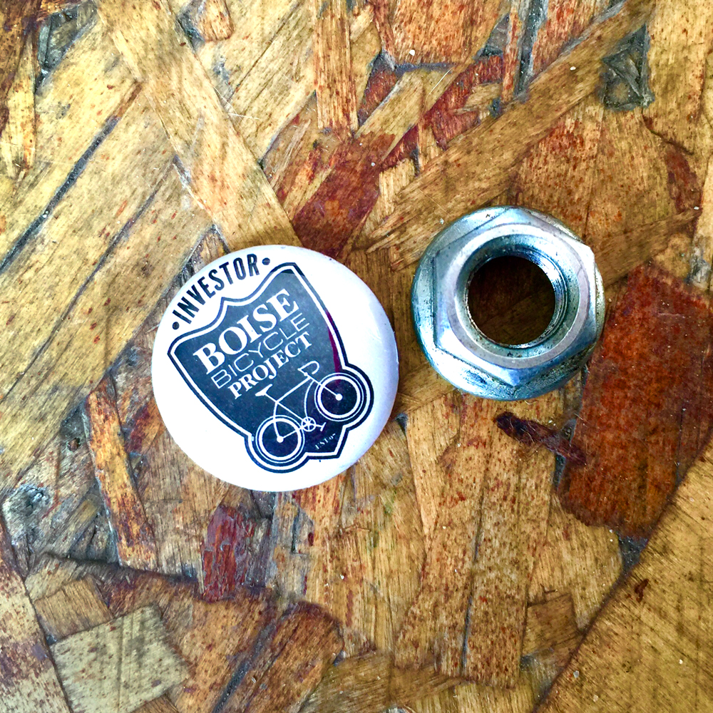Investor Button + Nut for the #RtRtR Booth