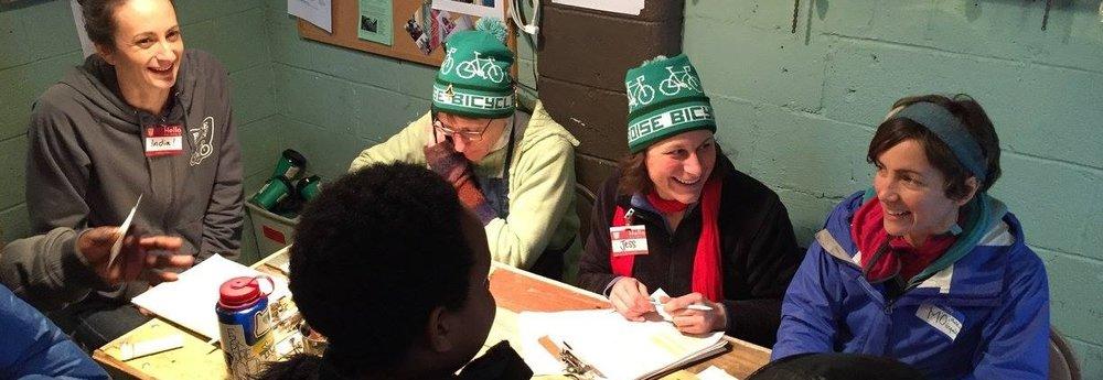 2015 Christmas Kids Bike Giveaway Volunteers.