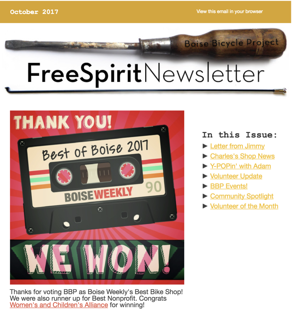 FreeSpirit Newsletter