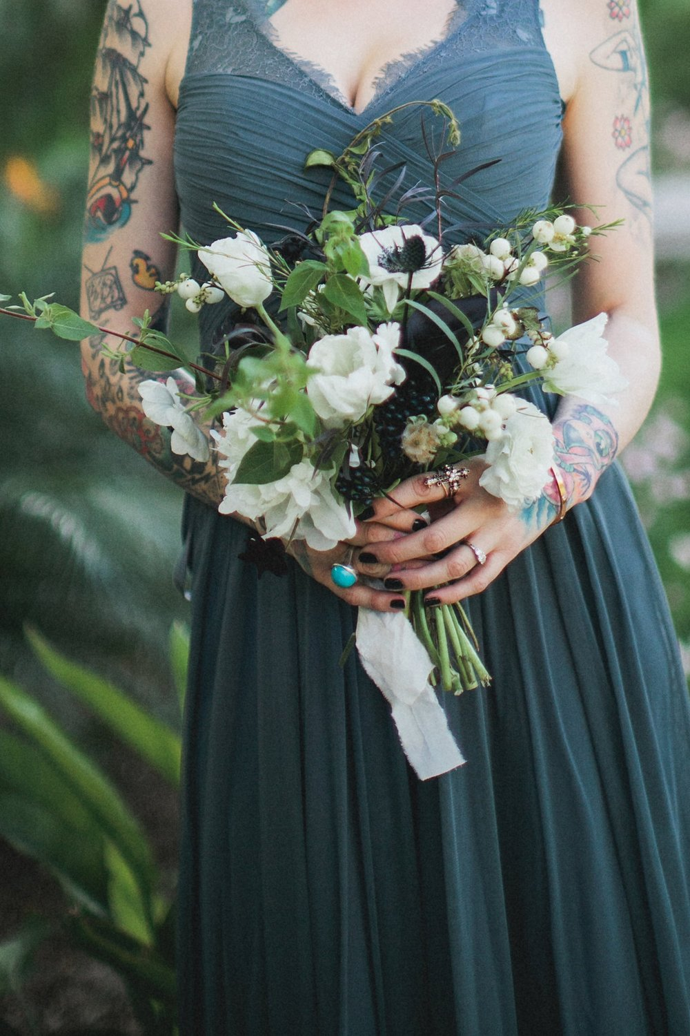 Minimal Bouquet - $80 - This is our most popular bridesmaid bouquet. Give your ladies a sweet little bundle of blooms and foliage for their walk down the aisle then re-purpose the arrangements in the nooks and crannies of your reception.