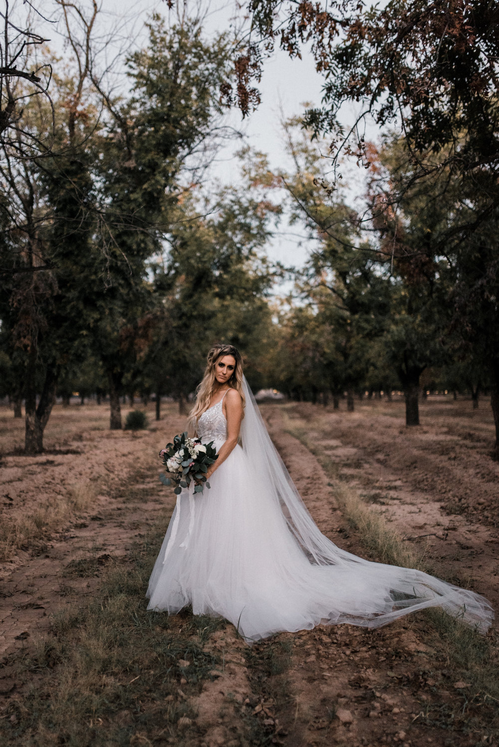 moody outdoor fall wedding - 12