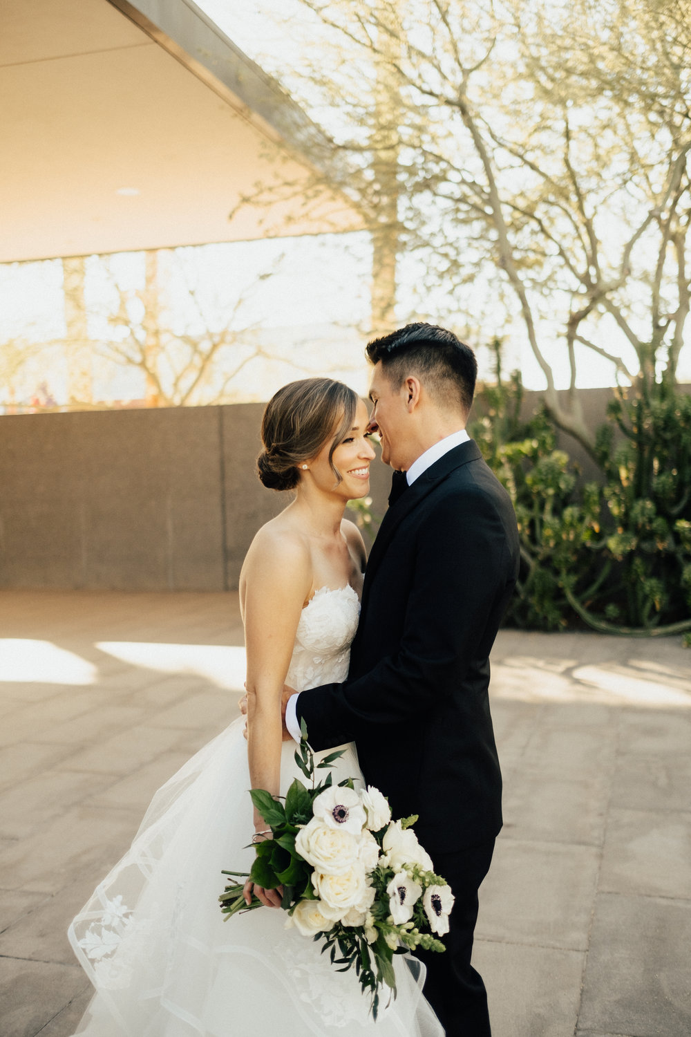 Chic art museum wedding