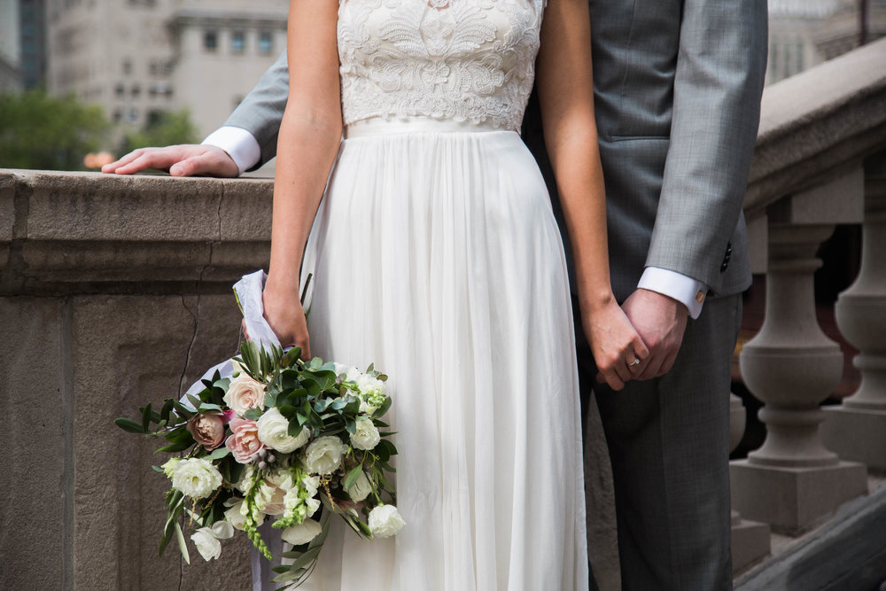 Bhldn Gown for a Modern Chicago Wedding