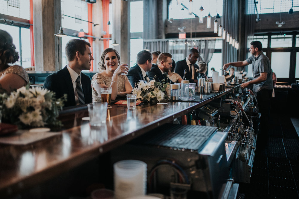 Wedding Party at the Bar