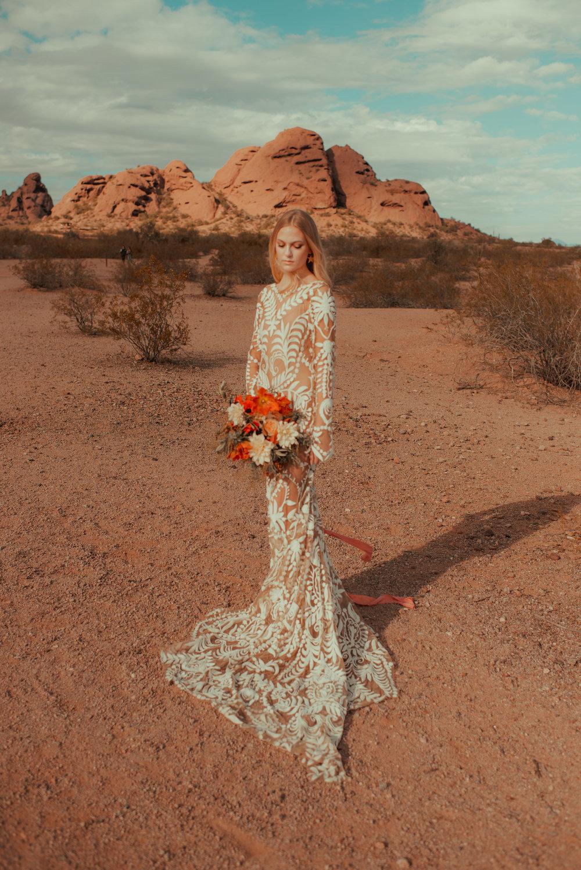 70's Desert Bride