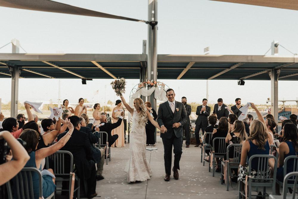 arizona baseball stadium wedding