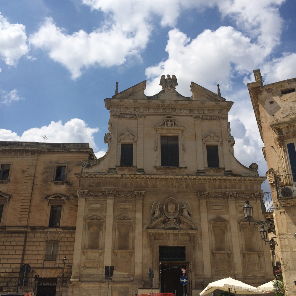 "A small but the most baroque town Lecce is called ""Florence in the south""."
