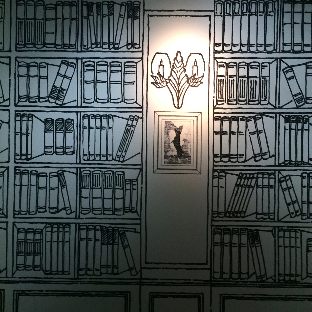 Another trompe-l'oeil: Book shelves of Coco Chanel's Appartment on rue Cambon.