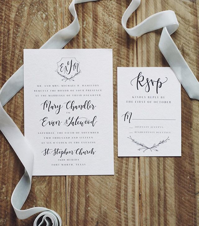This pretty monogram wedding invitation set is making its way to the Olive & Co. Etsy shop soon! With a click of the mouse you get a hand-lettered and personalized file sent via email, which you can take to your local print shop (or even print yourself, for those fellow DIYers out there 💪🏼). Also perfect for the budget savvy bride!