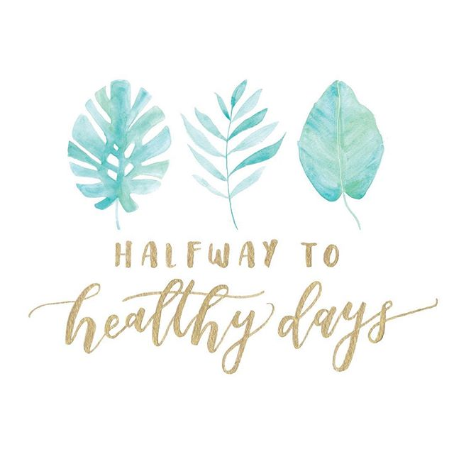 In honor of Earth Day, throwing it back to a super fun palm leaf inspired logo project for @halfwaytohealthydays 🌴 Check out her instagram and blog to get some major food and fitness inspo!