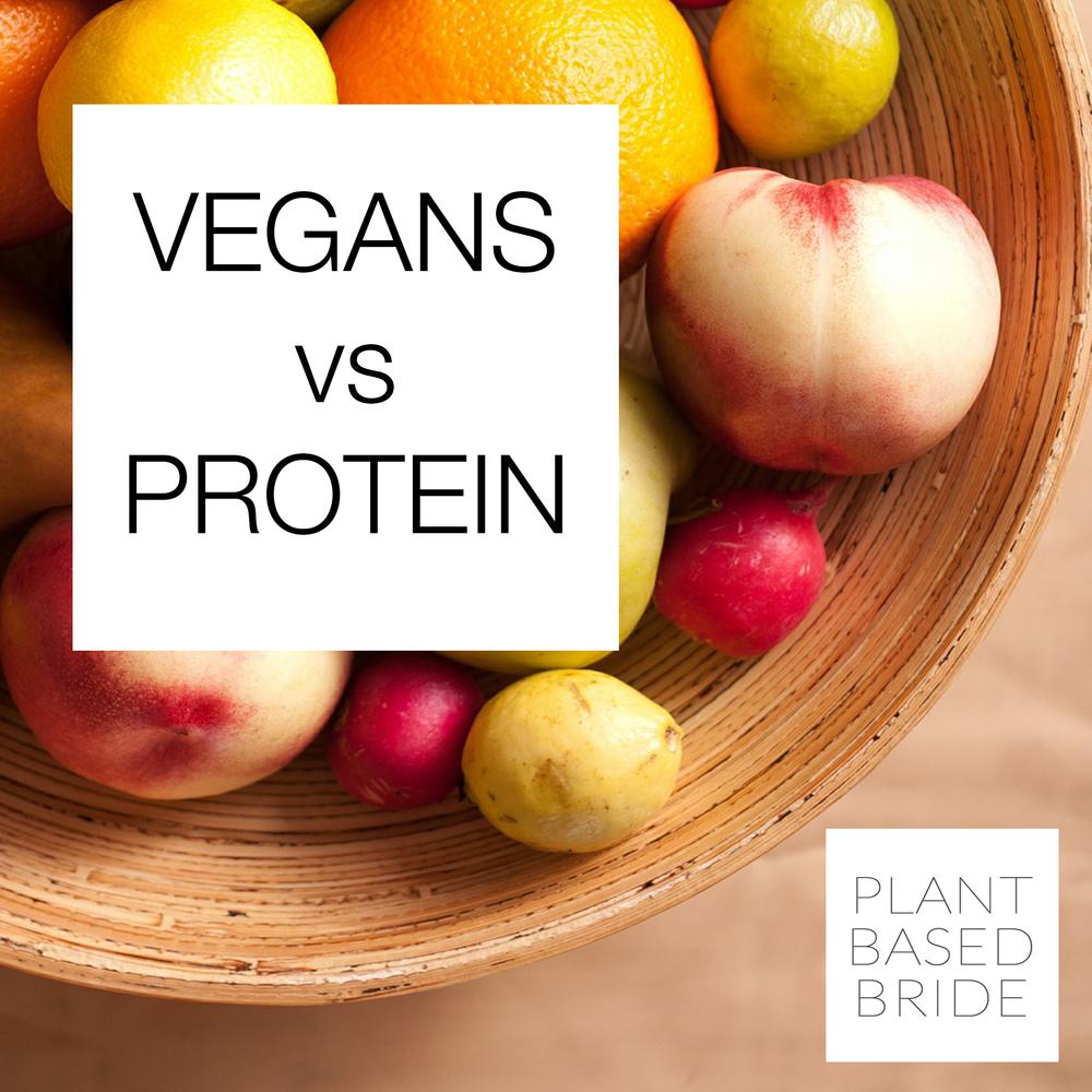 Vegans vs Protein from Plant Based Bride
