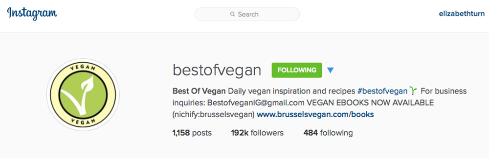 bestofvegan on instagram from plantbasedbride.com