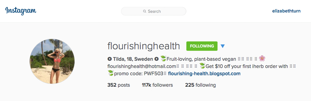 flourishinghealth on instagram from plantbasedbride.com