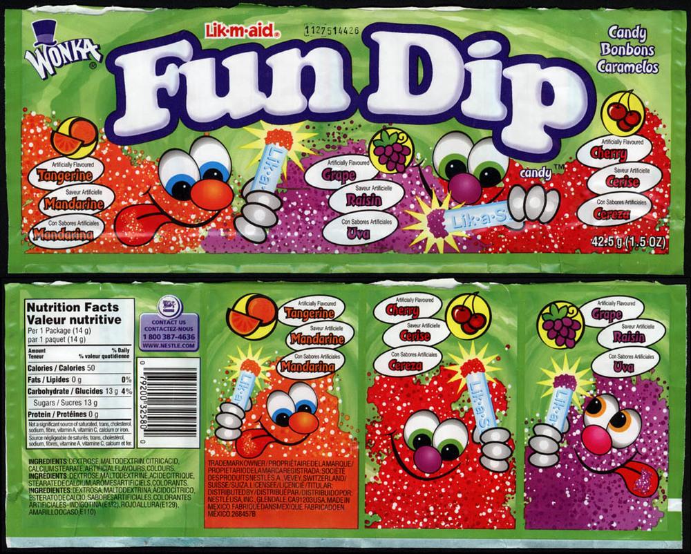 Fun Dip is vegan!  10 Vegan Halloween Candy Options on plantbasedbride.com!