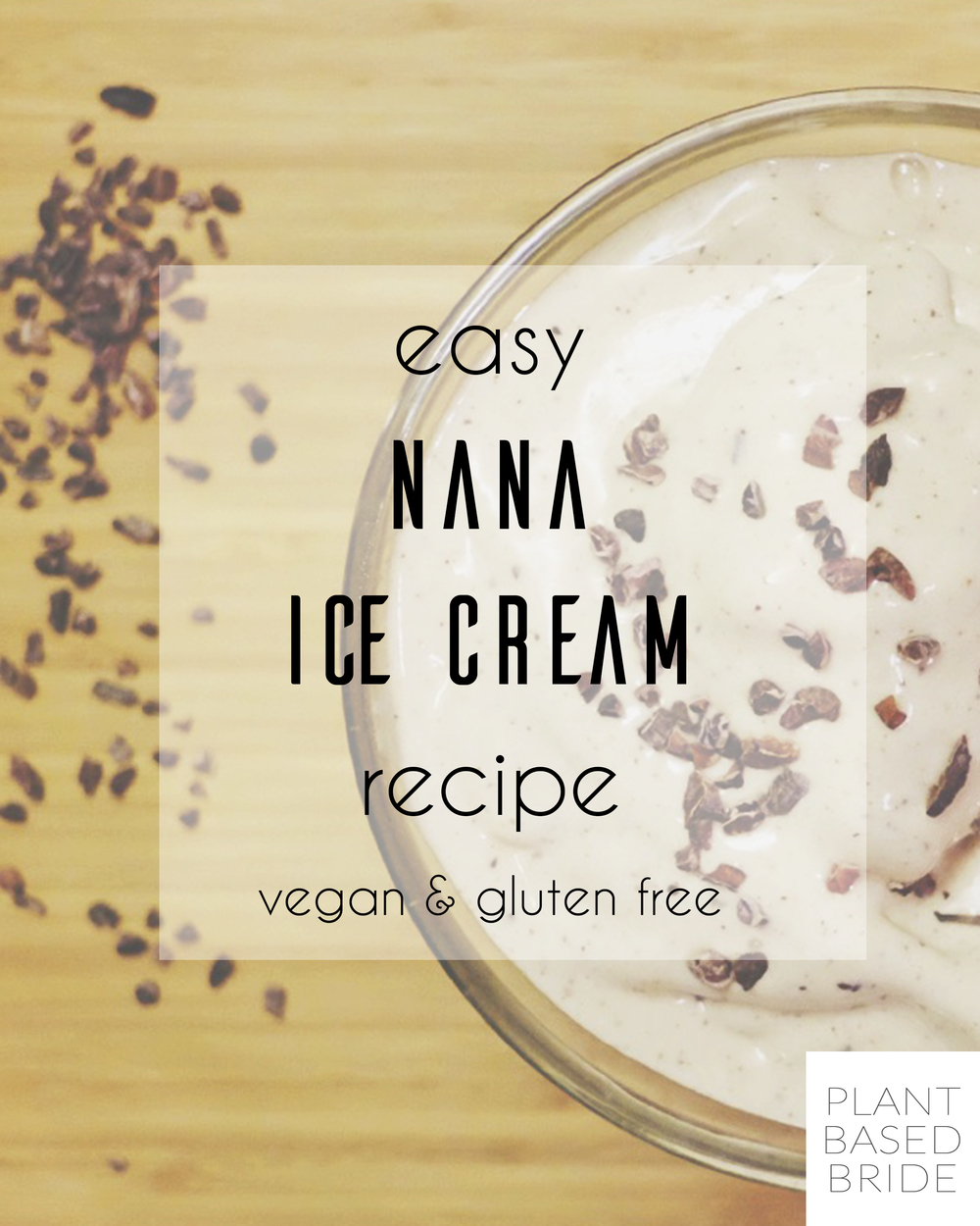 This is the simplest banana ice cream recipe out there!  So delicious and so easy.  Vegan and gluten-free nana ice cream for the win!