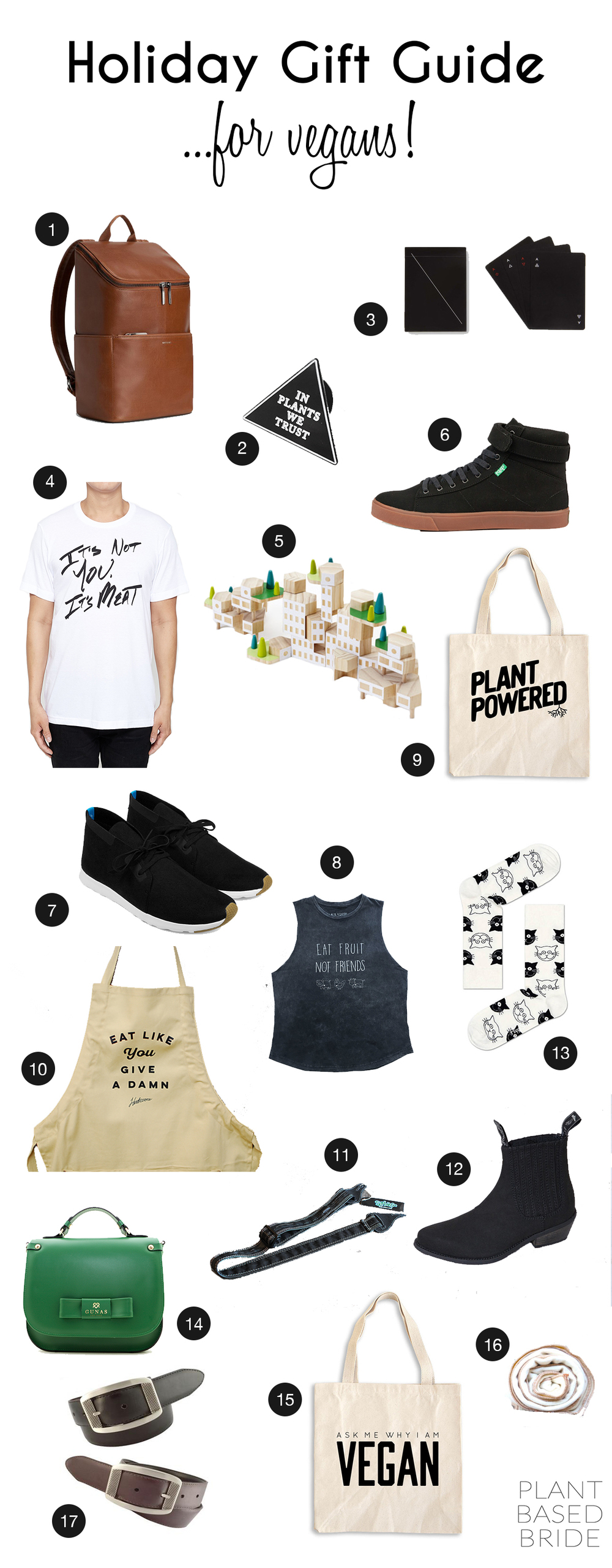 What should you buy the vegan on your list?  This gift guide is perfect for him OR her and has many of my personal wish list items!
