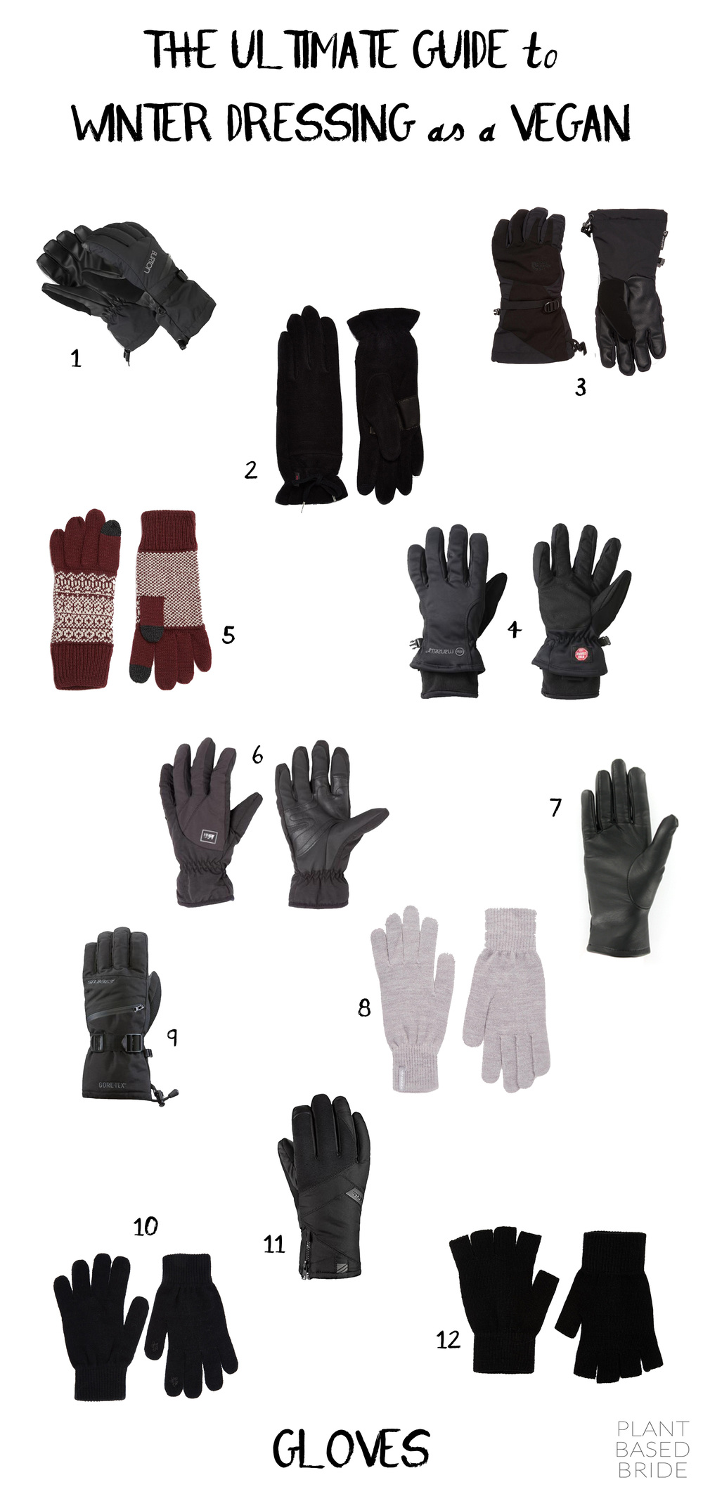 Vegan Gloves // The Ultimate Guide to Winter Dressing as a Vegan // Plant Based Bride