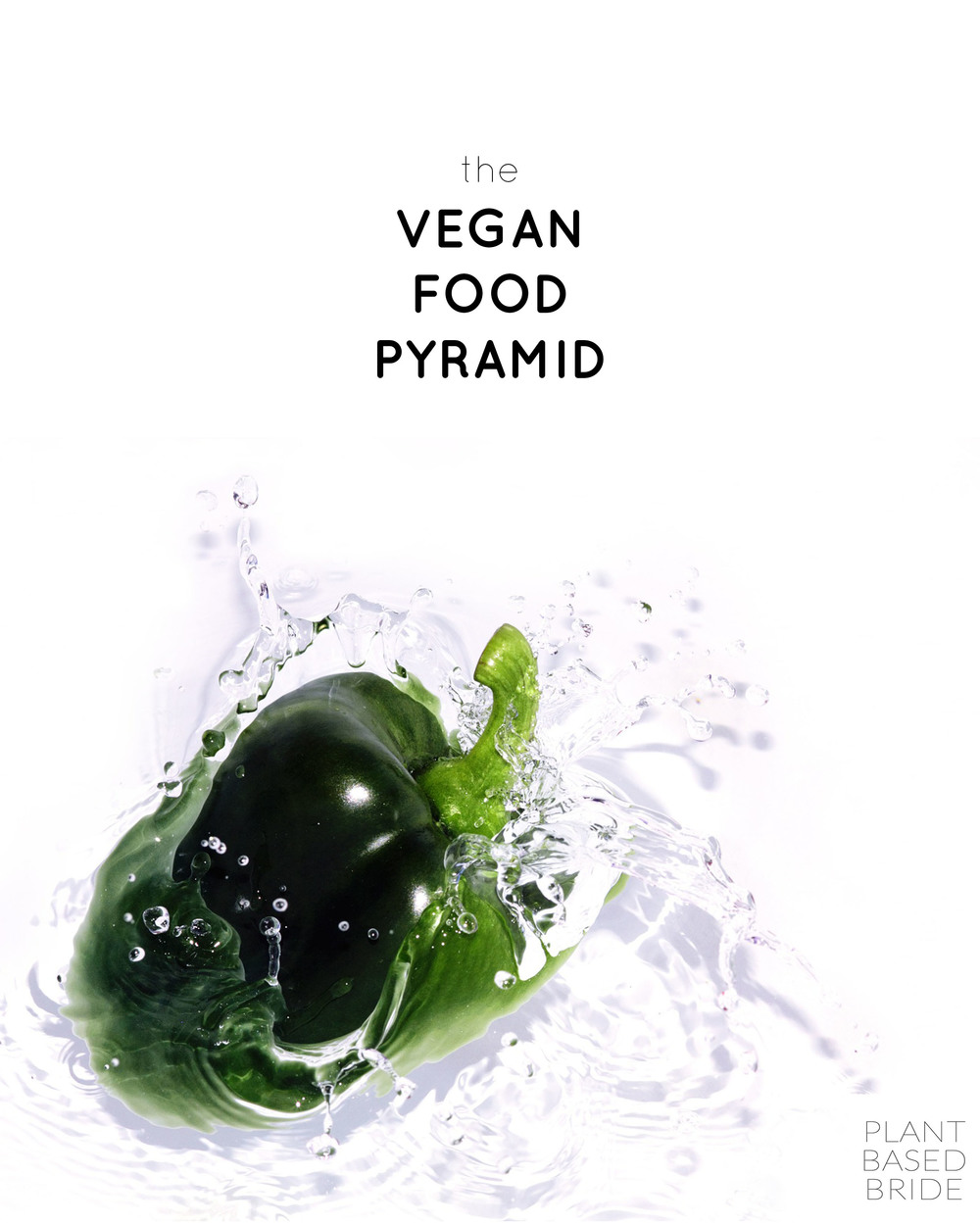 The Vegan Food Pyramid // Whole Foods High Carb Nutrient Dense Plant Based // Plant Based Bride
