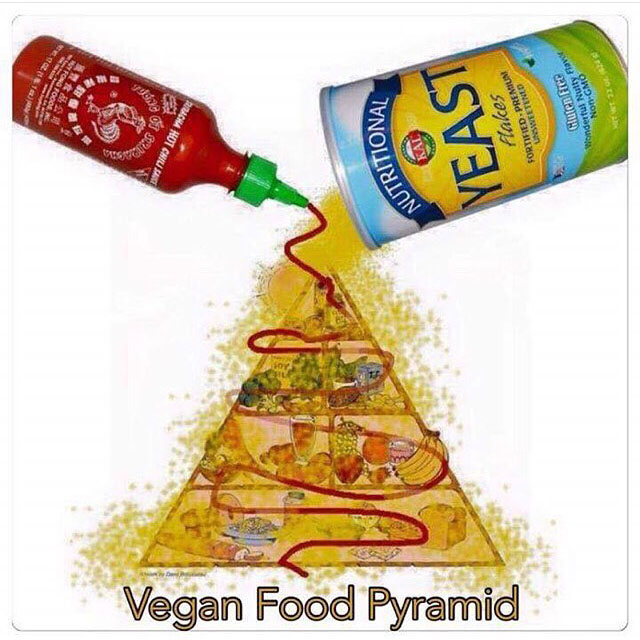 It's my veganniversary!  I'm sharing my top 4 tips for a happy, fulfilled vegan life! // This is tip #1.  Sriracha and nutritional yeast are life! // Plant Based Bride