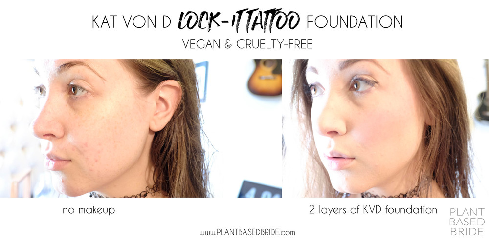 Kat Von D Lock-It Tattoo Foundation // Vegan & Cruelty Free // Review // Plant Based Bride