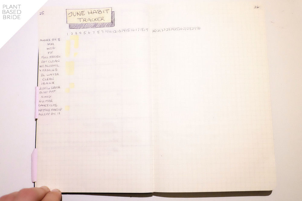 Bullet Journal Update + Tour! // Habit Tracker // Plant Based Bride // Bujo